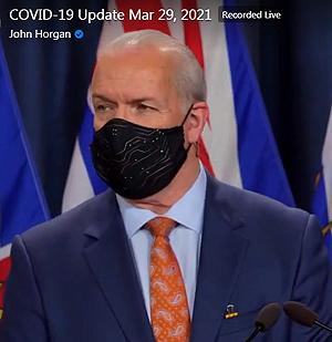 Premier John Horgan, mask