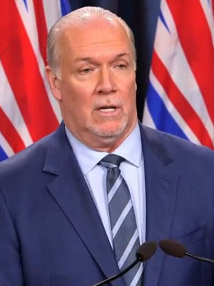 Premier John Horgan, March 1 2021