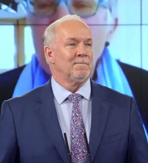 Premier John Horgan, COVID