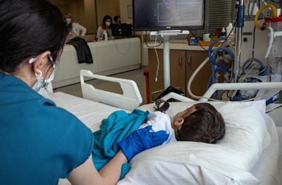 child, COVID, nurse, hospital