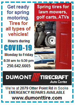 Dumont Tirecraft in Sooke - spring season tuneups | Open Mon to Fri during COVID-19