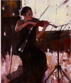 LadywithViolin, art show