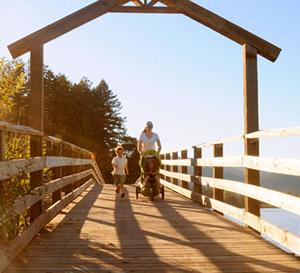Langford, lake, stroller
