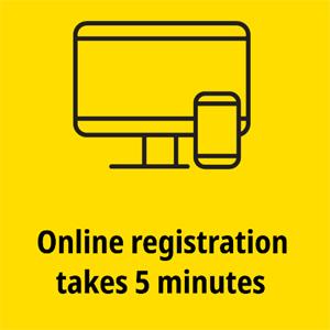 COVID vaccination, online registration