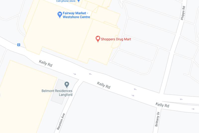 map, Westshore Town Centre