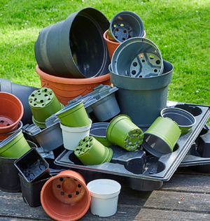 flower pots, recycling
