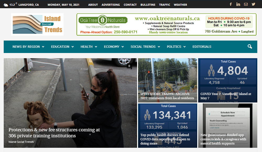 Island Social Trends, main page