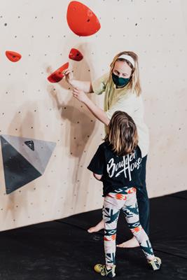 climbing wall, child