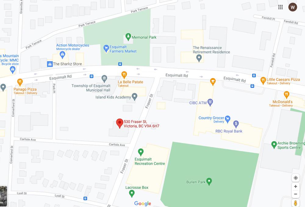 map, 530 Fraser St, esquimalt