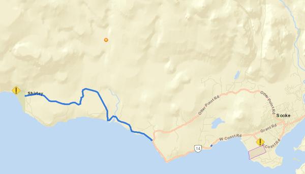 muir creek, shirley, map