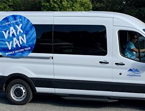 vax van, island health, covid