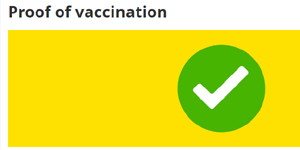proof of vaccination