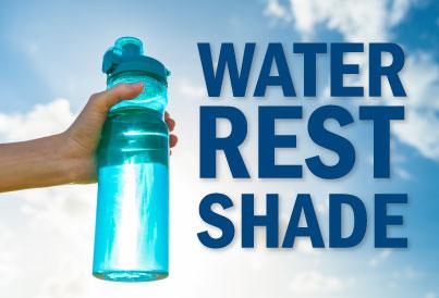 water bottle, heat