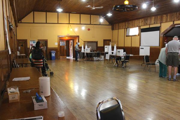 luxton hall, voting, sept 2021