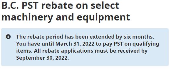 PST rebate