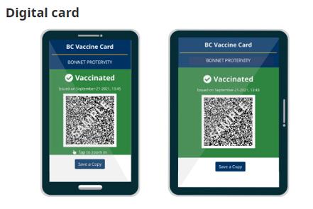 bc, vaccine card, digital
