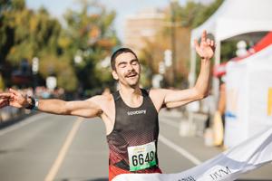 half marathon, winner, klassen