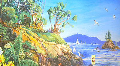 nature, mural